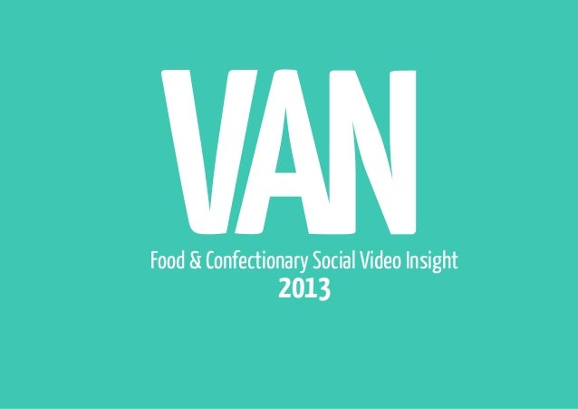 Food & Confectionary Social Video Insight  2013