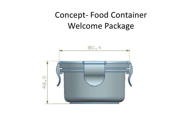 Concept- Food Container Welcome Package<br />