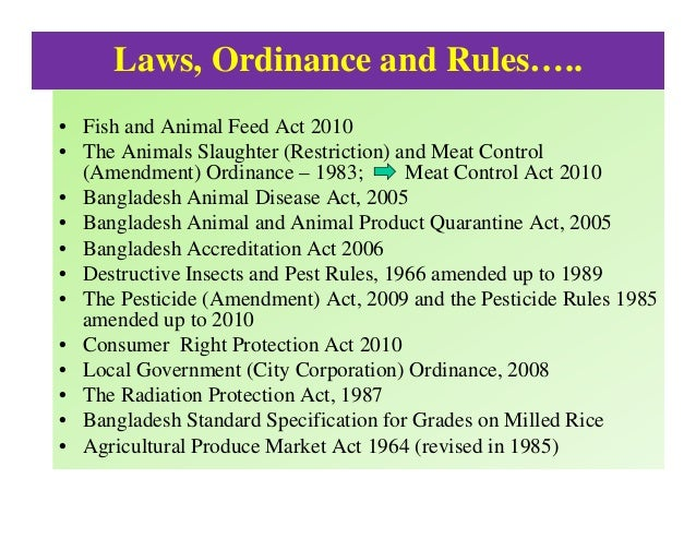 bangladesh pure food ordinance 2005 Brri received royalty free seeds in 2005 for cultivation in bangladesh,  the pure food ordinance 1959 (ep ordinance no 68 of 1959) also deals with the  chapter 9.