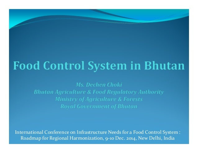 International Conference on Infrastructure Needs for a Food Control System : Roadmap for Regional Harmonization, 9-10 Dec....