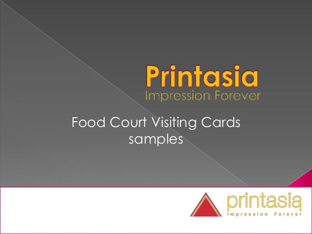 Food Court Visiting Cards samples