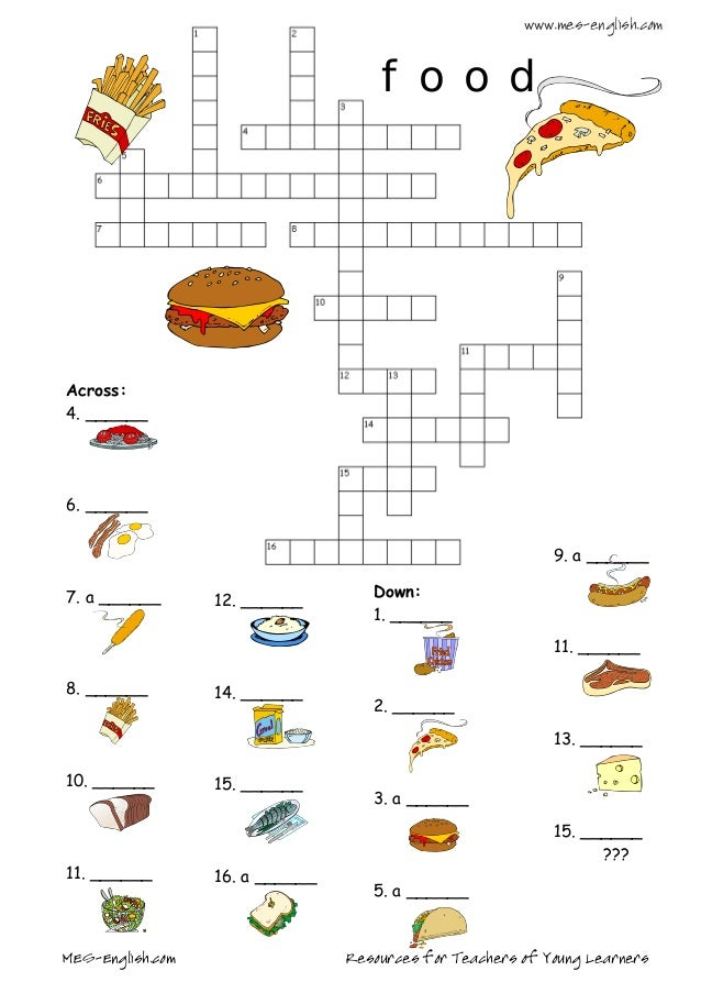 Eating As Snack Food Crossword