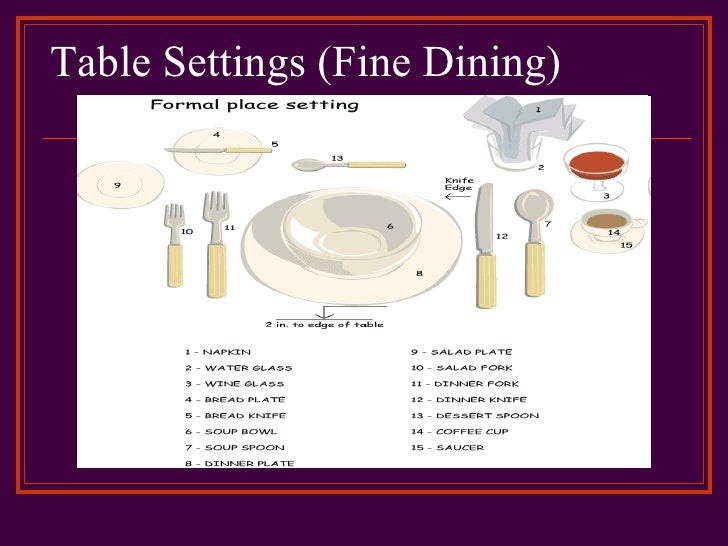 Excellent Table Settings Fine Dining With