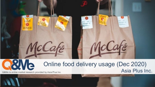 Q&Me is online market research provided by Asia Plus Inc. Online food delivery usage (Dec 2020) Asia Plus Inc.