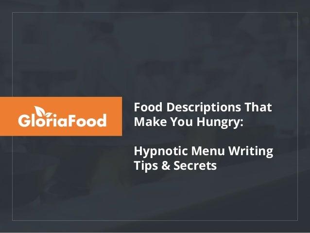 Food Descriptions That Make You Hungry: Hypnotic Menu Writing Tips & Secrets