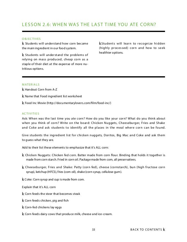 Food inc worksheet pdf