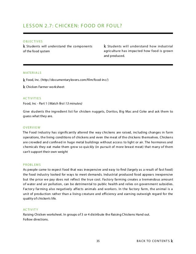 food inc worksheet Termolak – Food Inc Worksheet