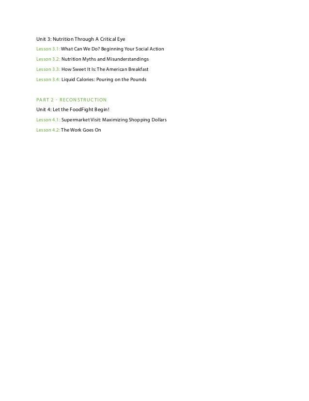 Worksheet Teachers Curriculum Institute Worksheets teachers curriculum foodfight program overview background material 4