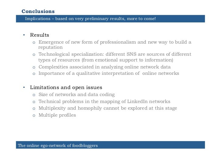 Conclusions   Implications – based on very preliminary results, more to come!  • Results      o Emergence of new form of...