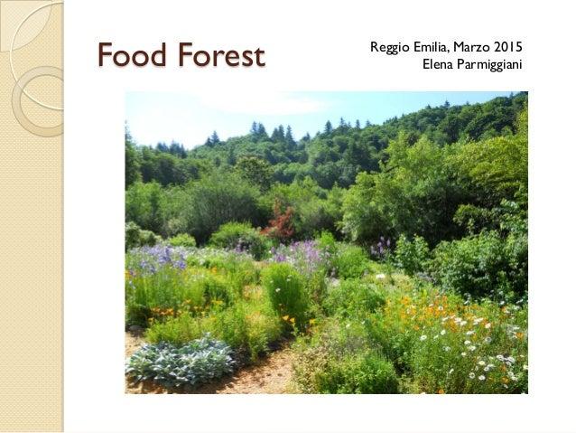 Food Forest Reggio Emilia, Marzo 2015 Elena Parmiggiani