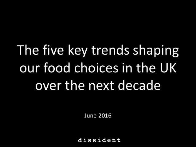 Five food trends