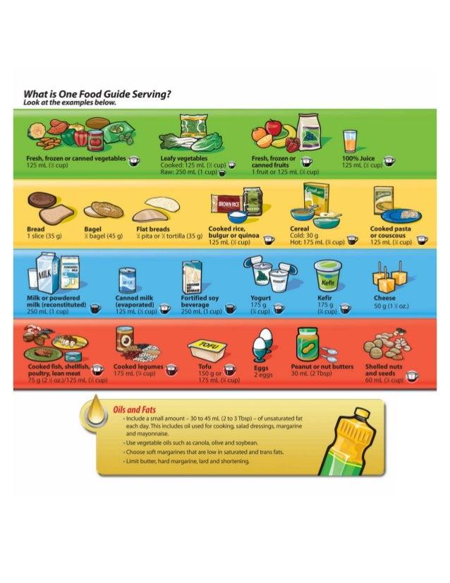 Canada Food Guide Granola Bar