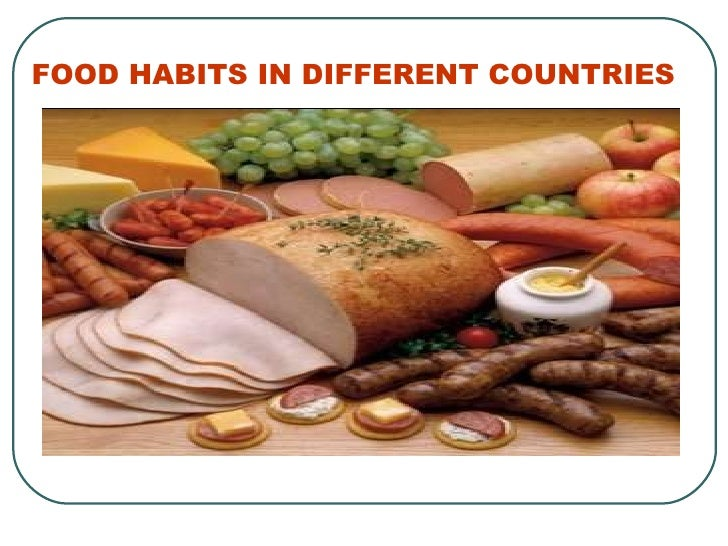 Eating habits in hispanic countries