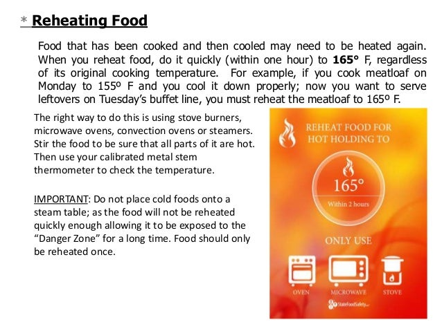 Reheating Food Safety