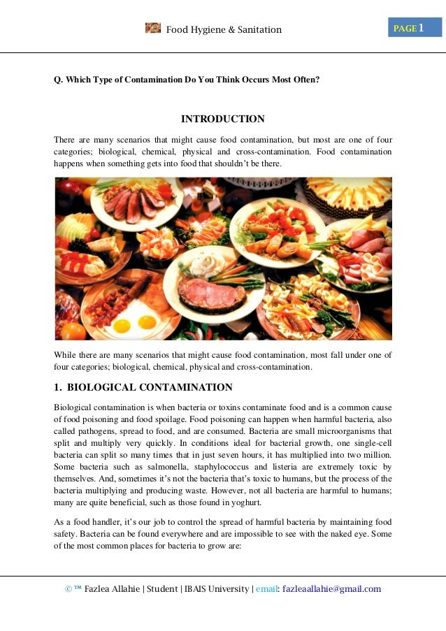 What Is A Thesis Statement In An Essay Examples Food May Be Contaminated By Bacteria Viruses Environmental Toxins Essay  About A Tradition Job Interviews Epigraphs For Essay Technology English Essay Friendship also Sample Essay Topics For High School Essay About Food Poisoning  Essay  Paper  Homework Help High School Essay Writing