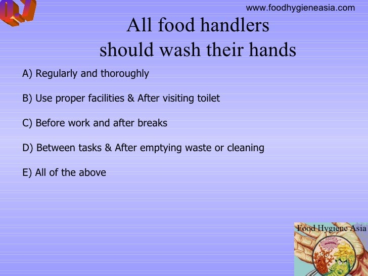 Online Food Food Hygiene Quiz Online