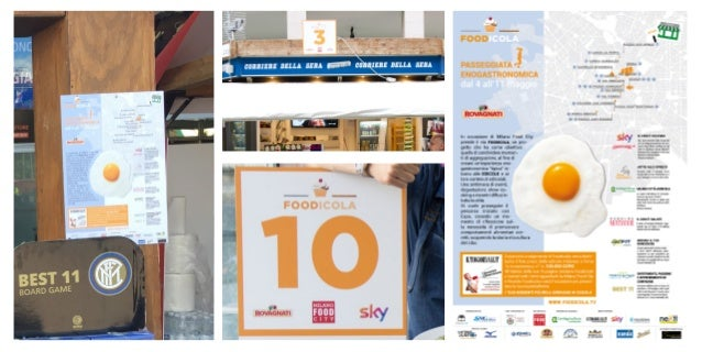 FOODICOLA COMUNICAZIONE Gli sponsor di Foodicola Pro Tour hanno un'im- portante visibilità sulle testate Nazionali e local...