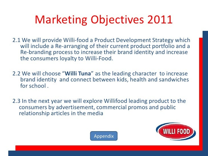 Marketing Objective Example