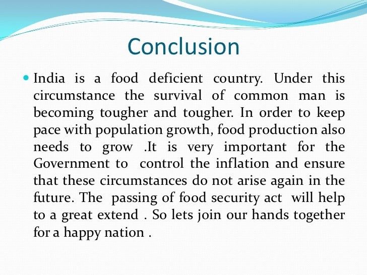 AN ANALYSIS OF MAJOR DETERMINANTS OF FOOD INFLATION …