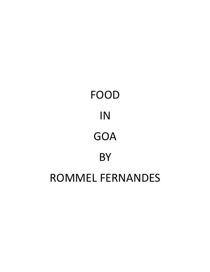 FOOD       IN      GOA       BYROMMEL FERNANDES