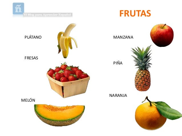 Food in spanish ele vocabulary alimentos en espa ol vocabulario - Alimentos en ingles vocabulario ...