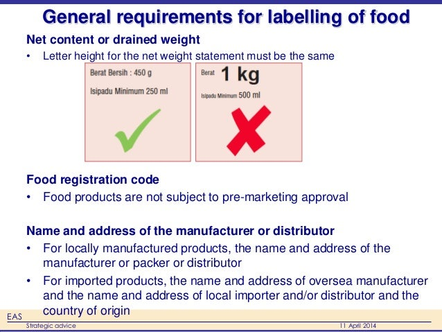 key issues in food labelling The five key principles of food hygiene recognition of food safety issues and attempts to address them began after guide to food labelling and other.