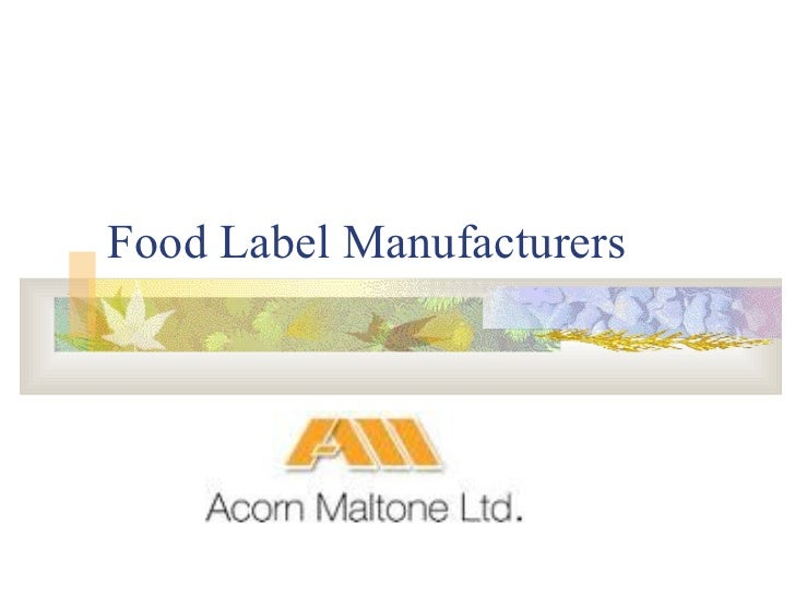 Food Label Manufacturers