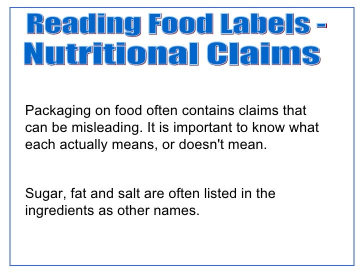 understanding food labels 2 essay Reading food labels and interpreting all the information on-pack can be a daunting task 5g fat is equal to one teaspoon of fat (picture a teaspoon of butter.