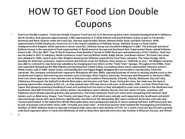 picture relating to Food Lion Printable Coupons titled Meals Lion Double Discount coupons - Printable Foodstuff Lion Double Coupon codes