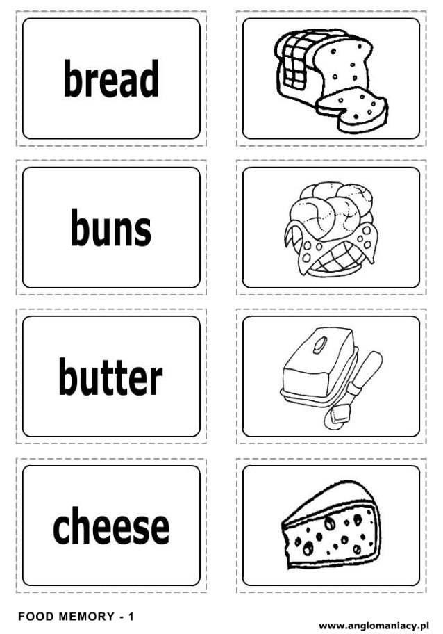 esl food worksheets
