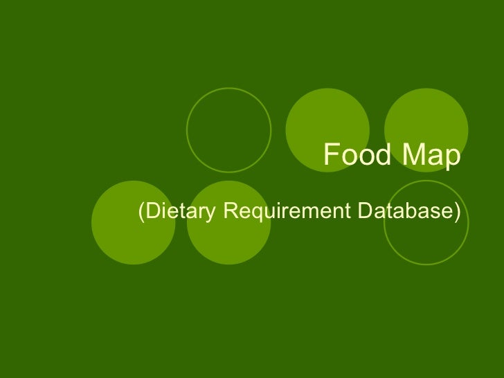 Food Map (Dietary Requirement Database)