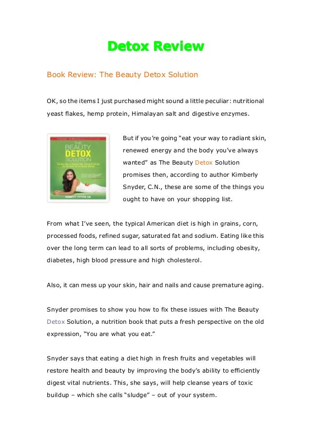 DetoxDetoxDetoxDetox ReviewReviewReviewReviewBook Review: The Beauty Detox SolutionOK, so the items I just purchased might...