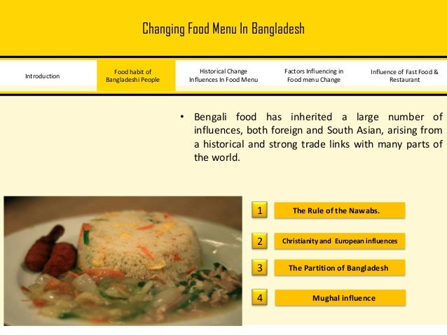 fast food culture in bangladesh 2018-7-23 request pdf on researchgate | fast food preferences and food habits among students of private universities in bangladesh | consumption of takeaway and fast food by young adolescents is no longer confined to the developed countries it has spread to the developing countries as well.