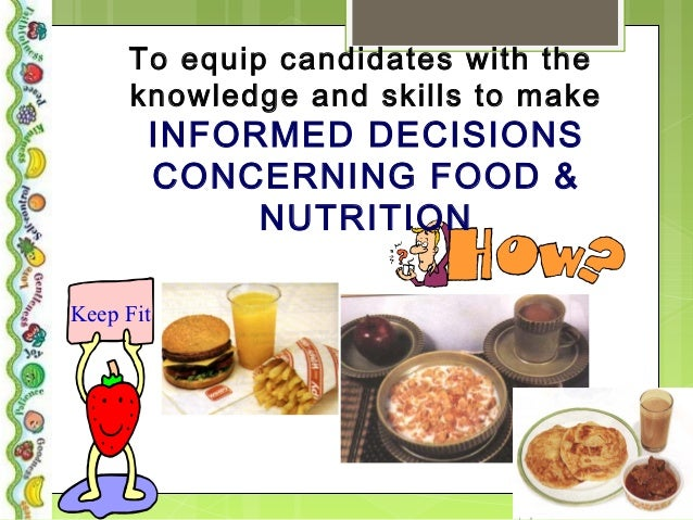 Food and nutrition coursework evaluation