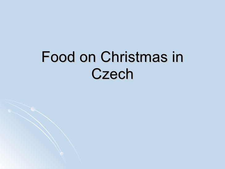 Food on Christmas in Czech