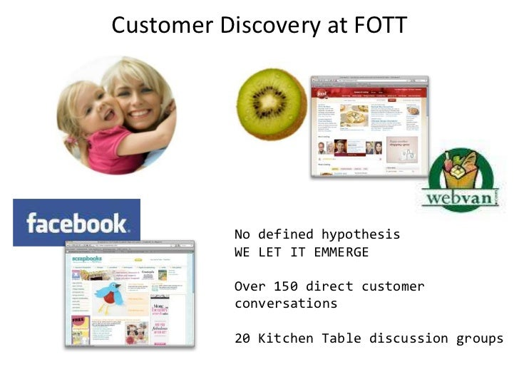 Customer Discovery at FOTT<br />No defined hypothesis<br />WE LET IT EMMERGE<br />Over 150 direct customer conversations<b...