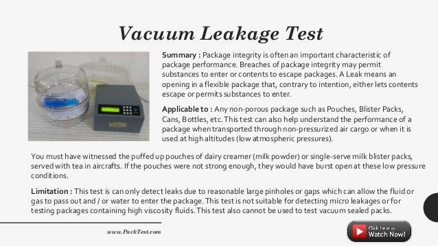 Food Packaging Testing Equipment