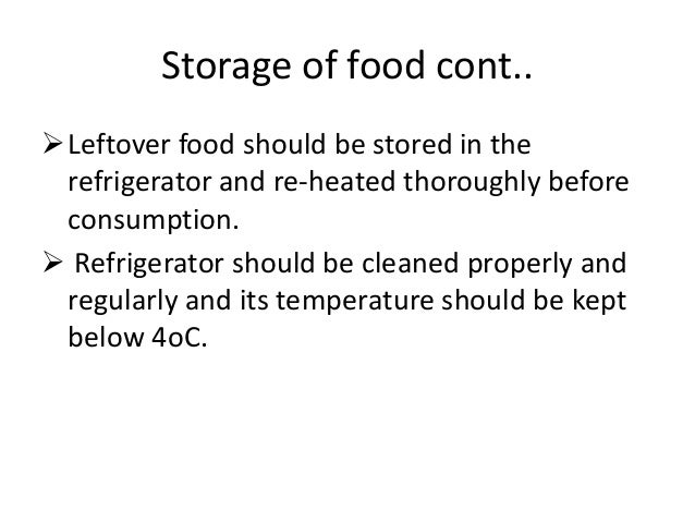 Raw Food Should Be Stored Below Cooked Food