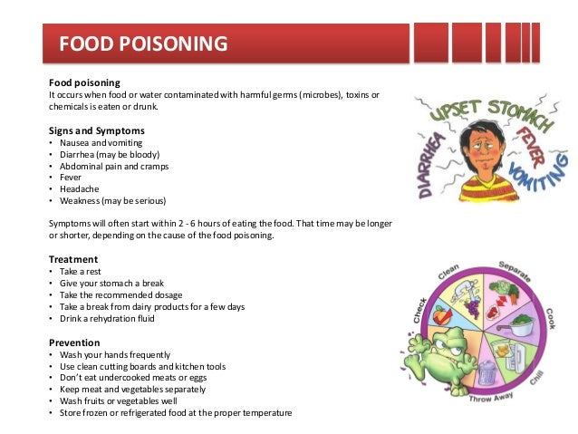 how to fix food poisoning