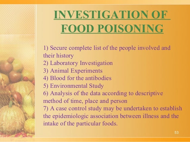 case study of food poisoning