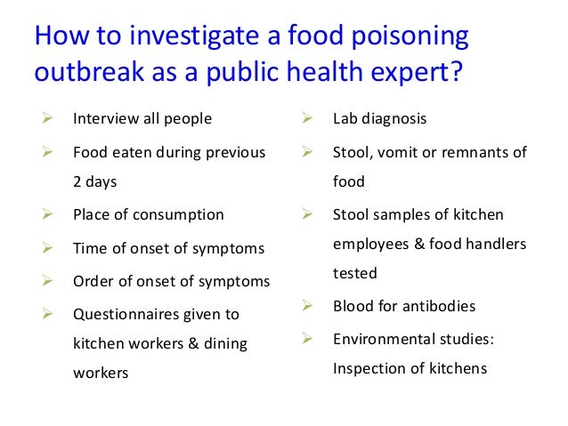 Food poisoning - A public health perspective