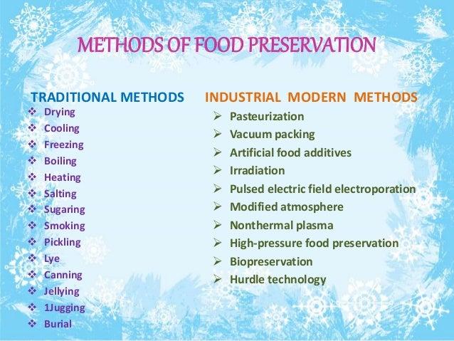 METHODS OF FOOD PRESERVATION ...  sc 1 st  SlideShare & Food preservation