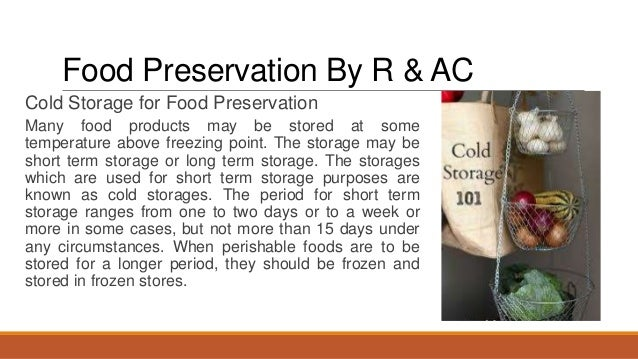 Food preservation by refrigeration and air conditioning service case food preservation by r ac 11 forumfinder Choice Image