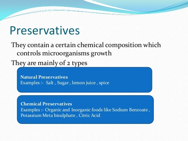 sodium benzoate food preservative essay example Preservatives can keep food fresher for longer periods of time, extending its shelf life food preservatives also are used to slow or prevent changes in color, flavor or texture and delay rancidity  for example, if the product contains any poisonous or harmful substance  artificial preservatives such as sodium nitrate, sodium benzoate.