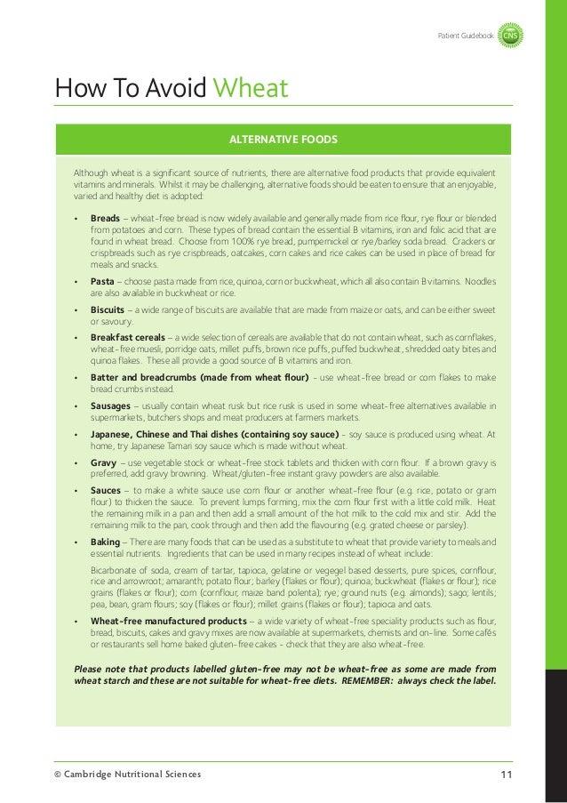 how to avoid wheat flour