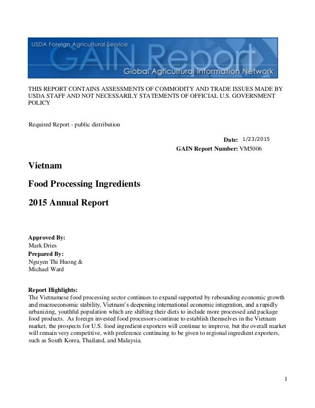 1 THIS REPORT CONTAINS ASSESSMENTS OF COMMODITY AND TRADE ISSUES MADE BY USDA STAFF AND NOT NECESSARILY STATEMENTS OF OFFI...