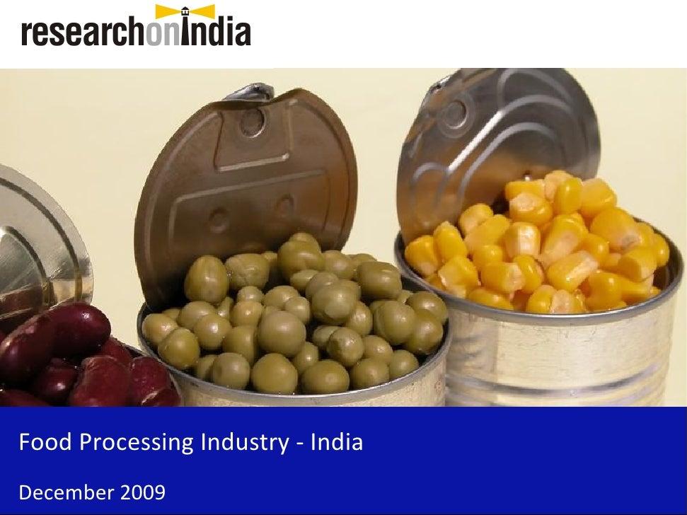 Food Processing Market - India December 2009