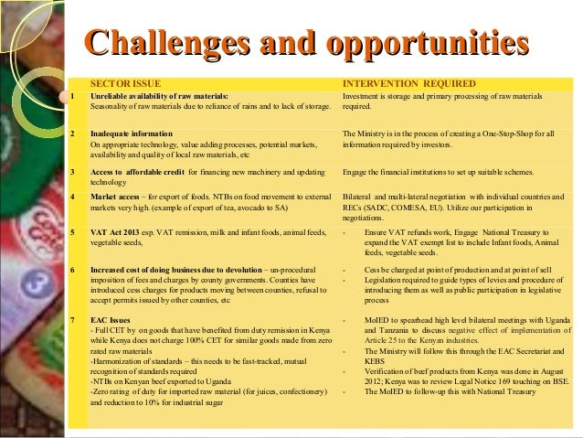 FOOD INDUSTRY IN KENYA - November 2013