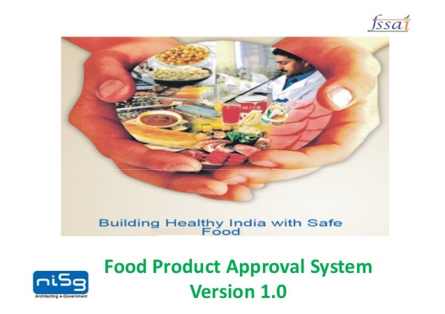 Food Product Approval System  Version 1.0