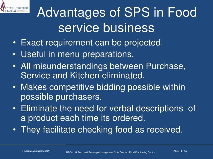 food purchasing cost control Purchasing frameworks and routinely keep food costs under 32% of expenses it's a good idea to develop your own framework for making purchasing decisions and let vendors know your.
